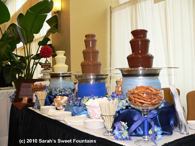 Sephra Cortez Commercial Chocolate Fondue Fountain Business Pack